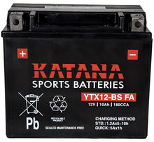 Load image into Gallery viewer, YTX12-BS FA Katana Motorcycle Battery 180CCA 10AH