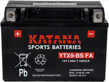 Load image into Gallery viewer, YTX9-BS FA Katana Motorcycle Battery 135CCA 8AH