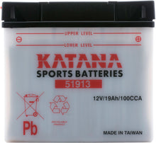 Load image into Gallery viewer, 51913 Katana Motorcycle Battery 100CCA 19AH
