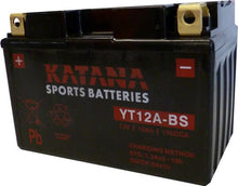 Load image into Gallery viewer, YT12A-BS Katana Motorcycle Battery 175CCA 10AH