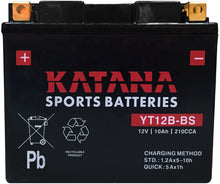 Load image into Gallery viewer, YT12B-BS Katana Motorcycle Battery 210CCA 10AH