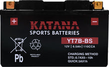 Load image into Gallery viewer, YT7B-BS Katana Motorcycle Battery 110CCA 6.5AH