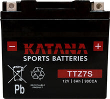 Load image into Gallery viewer, TTZ7S Katana Motorcycle Battery 90CCA 6AH