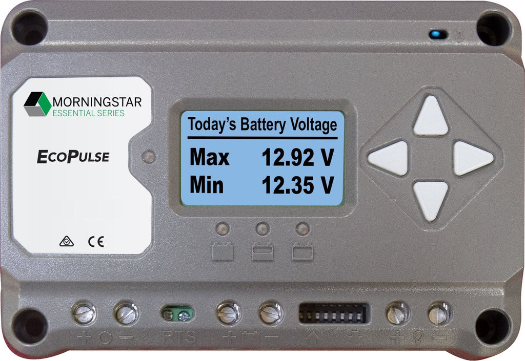 MORNINGSTAR ECOPULSE PWM 12/24V 10A W/METER