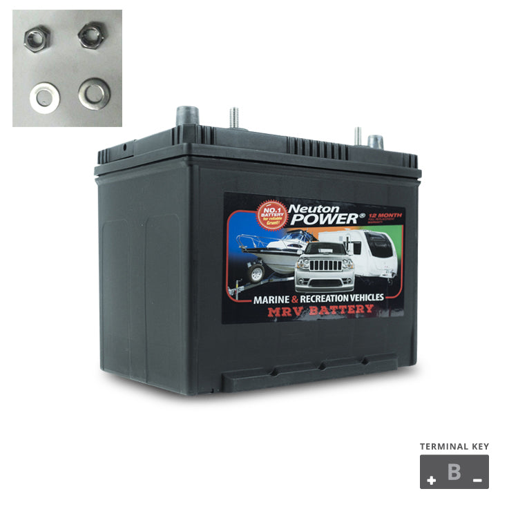 80AH C20 MARINE DEEP CYCLE BATTERY M24 N24