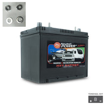 Load image into Gallery viewer, 80AH C20 MARINE DEEP CYCLE BATTERY M24 N24