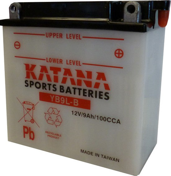 YB9L-B Katana Motorcycle Battery 115CCA 9AH