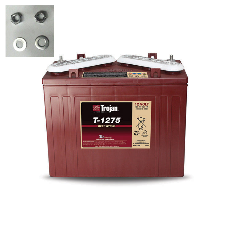 TROJAN DEEP CYCLE T-1275 12V 150AH FLOODED BATTERY
