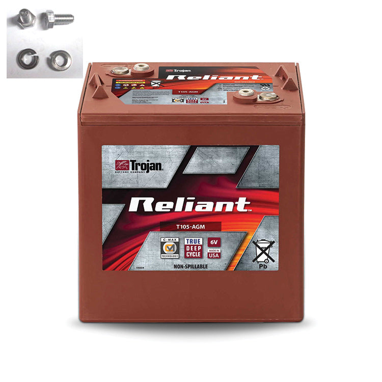 TROJAN RELIANT DEEP CYCLE AGM T105-AGM 6V 217AH BATTERY