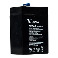 Load image into Gallery viewer, VISION CP645 6V 4.5AH RND TERMINAL AGM VRLA BATTERY