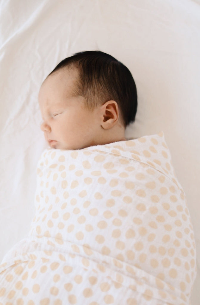 Baby Swaddle Blanket - Sand Dune Dot - Cotton Bubble