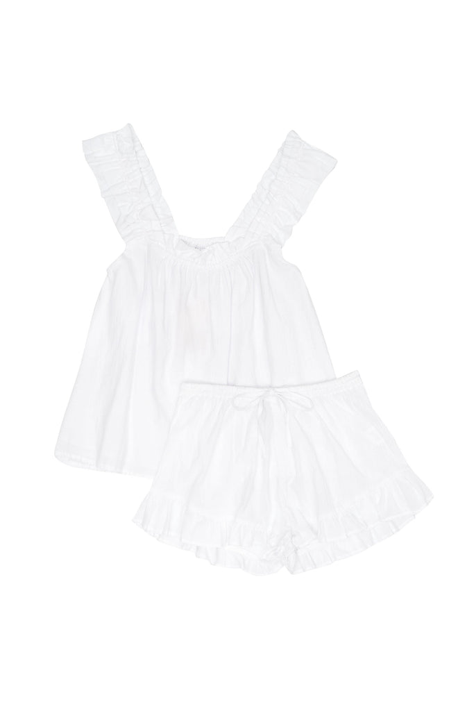 Nicolette Sleep Set - White Washed Cotton