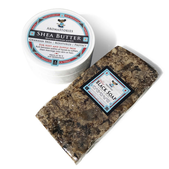 Shea Butter Black Soap Package