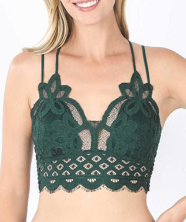 Kelly Green Lace Bralette