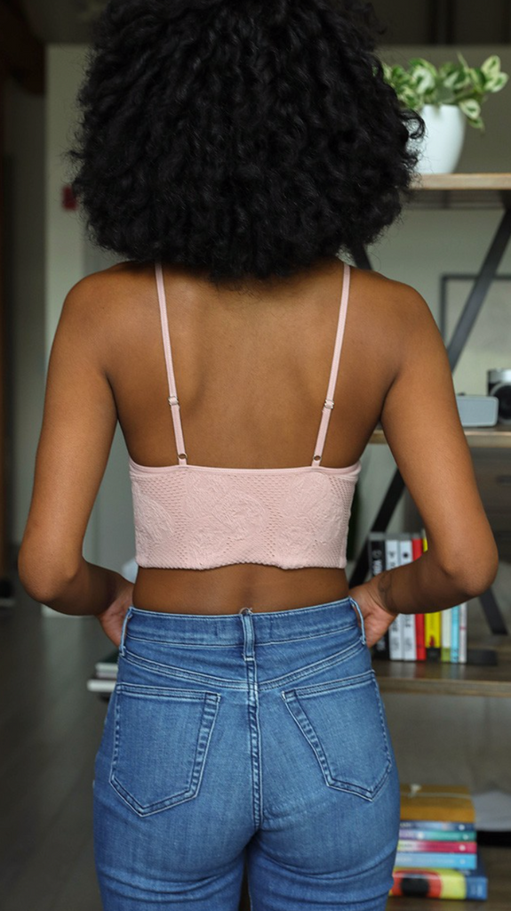 Pink Padded Lounge Bralette
