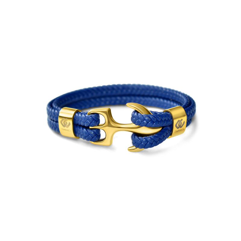 Isocrates Unisex Gold Leather Blue (4890263683204)