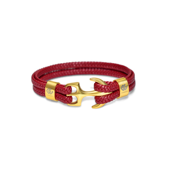 Isocrates Unisex Gold Leather Red (4886676635780)