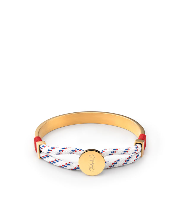 Aurelius  Nylon Rope Gold Bangle Bracelet
