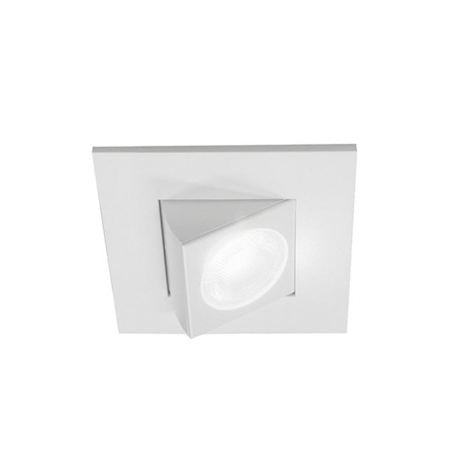 DQR2-AA-10-120-2K-WH - 2 Inch LED Adjustable Square Downlight - 662 Lumens - 2700K