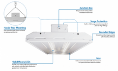 HBL3110UNV50K, LED Low Bay/High Bay, 5000K, 14,399 Lumens