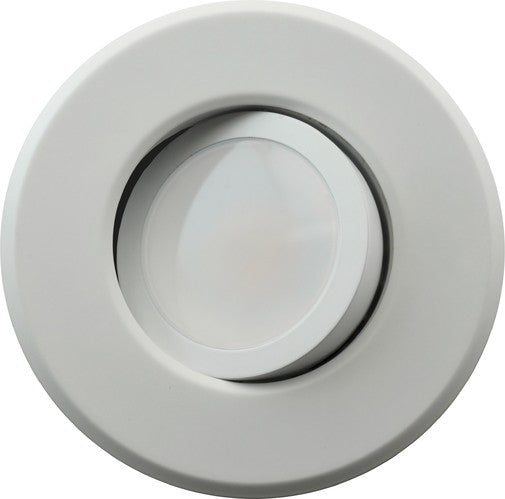 DLG4-10-120-3K-WH - 4 Inch LED Gimbal Downlight - 630 Lumens - 3000K