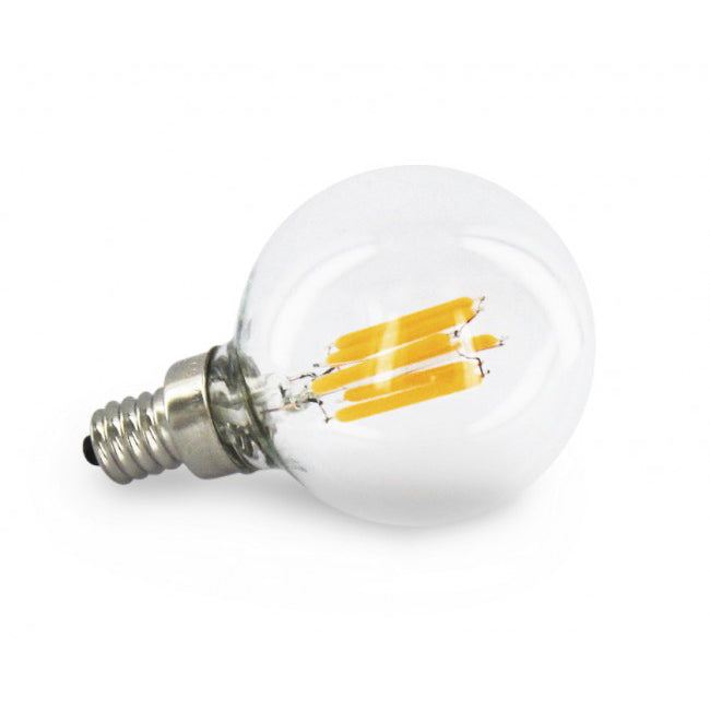 2 Watt Filament G45 LED Globe - E12 Base - Dimmable - 2700K - 20W Equivalent