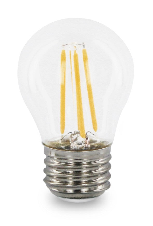 2 Watt Filament G16.5 LED Globe - E26 Base - Dimmable - 2700K - 20W Equivalent