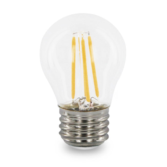 4 Watt Filament G16.5 LED Globe - E26 Base - Dimmable - 2700K - 40W Equivalent