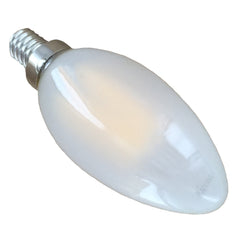 4 Watt Frosted Filament LED Candelabra Bulb - E12 Base - 2700K - 40W Equivalent