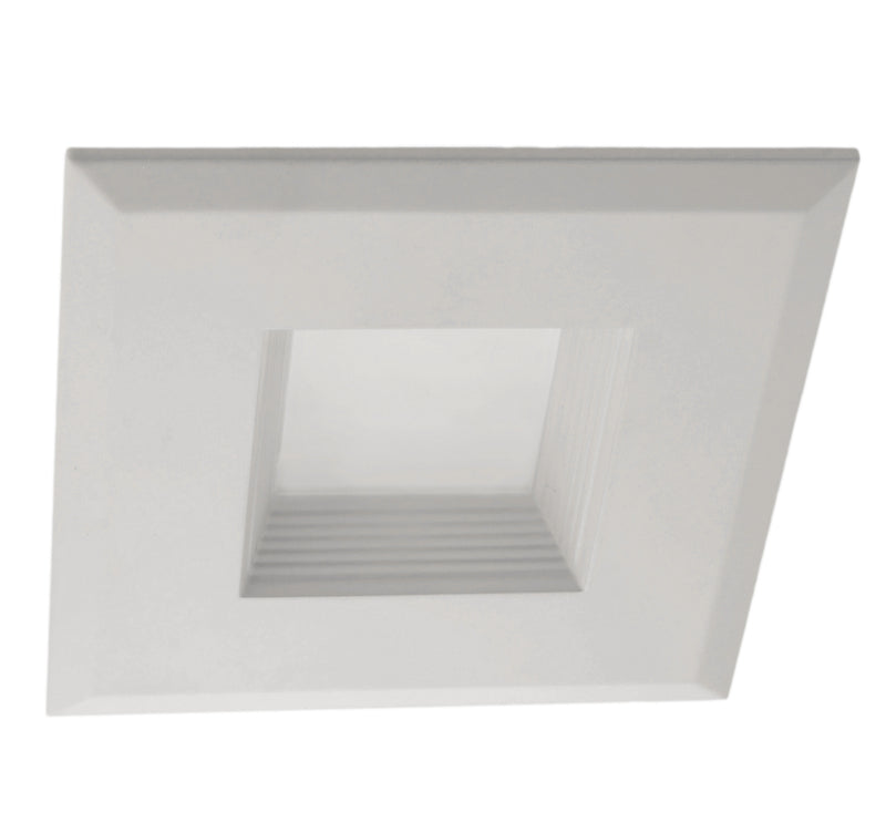 "3"" Square LED Downlight - DQR3-10-120-2K-WH-BF - 480 Lumens - 2700K"