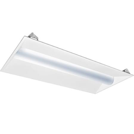 2 X 4 LED Volumetric Recessed Troffer - 42 Watts - 4000K - Emergency Backup
