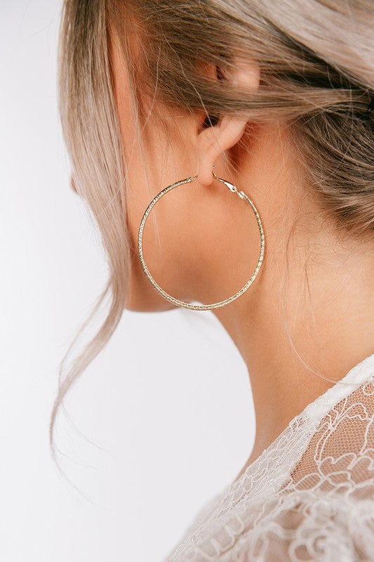 GOLD HOOP EARRINGS - ShopLawson