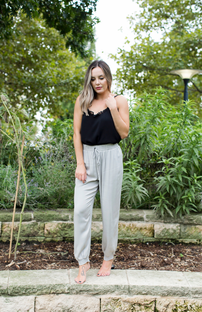 COOLING DOWN GREY DRESSY JOGGERS - ShopLawson