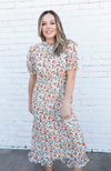 DITZY FLORAL SMOCK NECK RUFFLE DRESS - ShopLawson