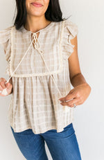 TRUE BELIEVER TAN TASSEL TOP - ShopLawson
