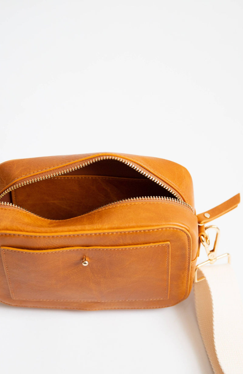 WANDERLUST COGNAC CAMERA CROSSBODY - ShopLawson