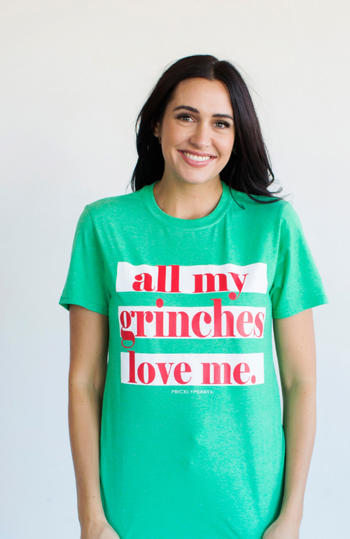 LAST ONE - ALL MY GRINCHES CHRISTMAS GRAPHIC TEE - ShopLawson