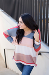 IN LOOM KNIT MULTICOLORED STRIPED TOP - ShopLawson