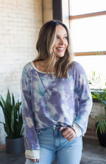 CROSS MY HEART TIE DYE TOP - ShopLawson