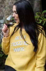 YELLOW COFFEE WINE REVERSIBLE SWEATSHIRT - ShopLawson