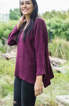 ANTICIPATION BURGUNDY RELAXED SWEATER - ShopLawson