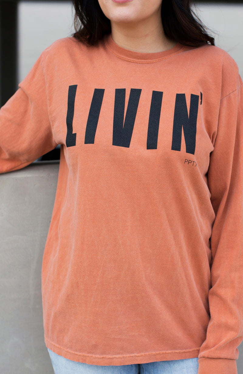 LIVIN' WEATHERED LONG-SLEEVE T-SHIRT - ShopLawson
