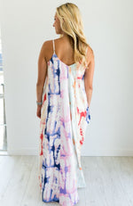 SUMMER NIGHTS TIE DYE MAXI DRESS - ShopLawson