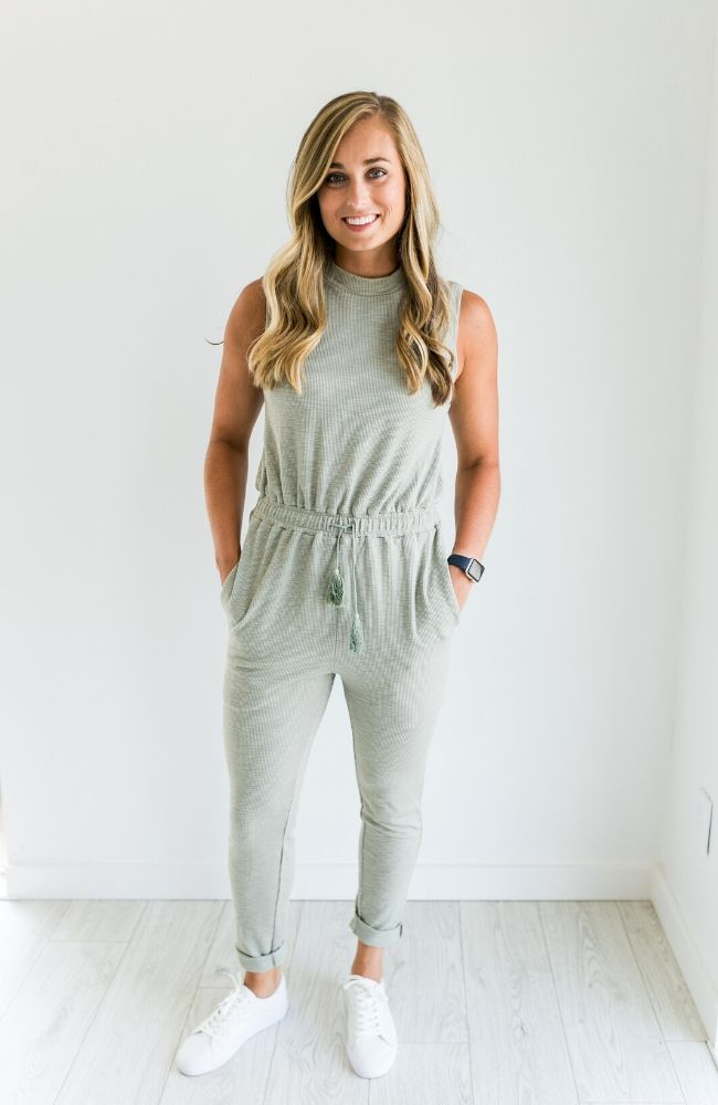 OLIVE YOU TANK HIGH NECK JUMPSUIT - ShopLawson