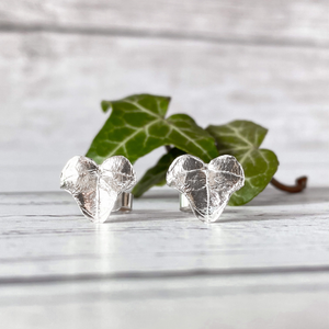 Silver Ivy Leaf Stud Earrings