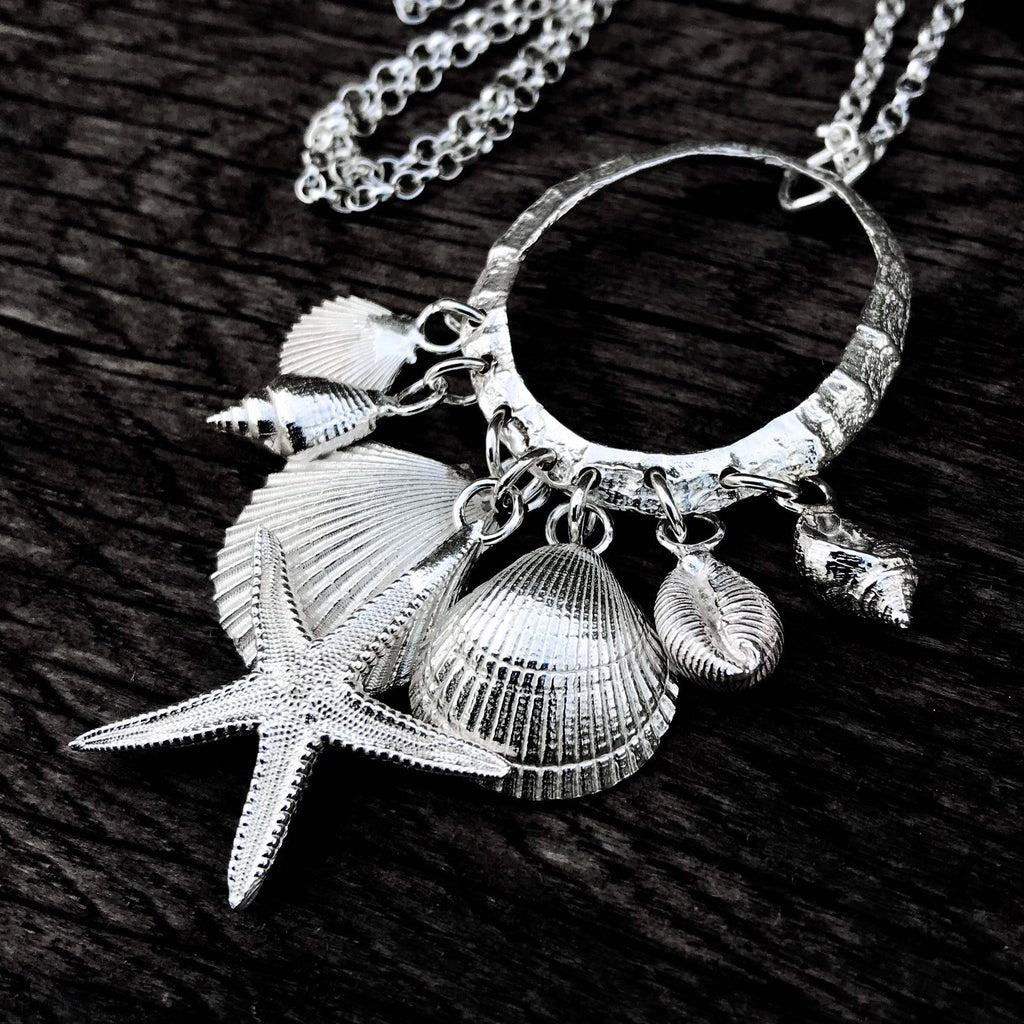 Sterling Silver Shell Charm Necklace