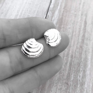 Sterling Silver Venus Clam Shell Earrings
