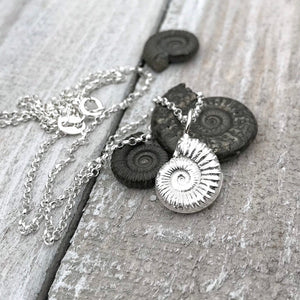 Sterling Silver Ammonite Necklace