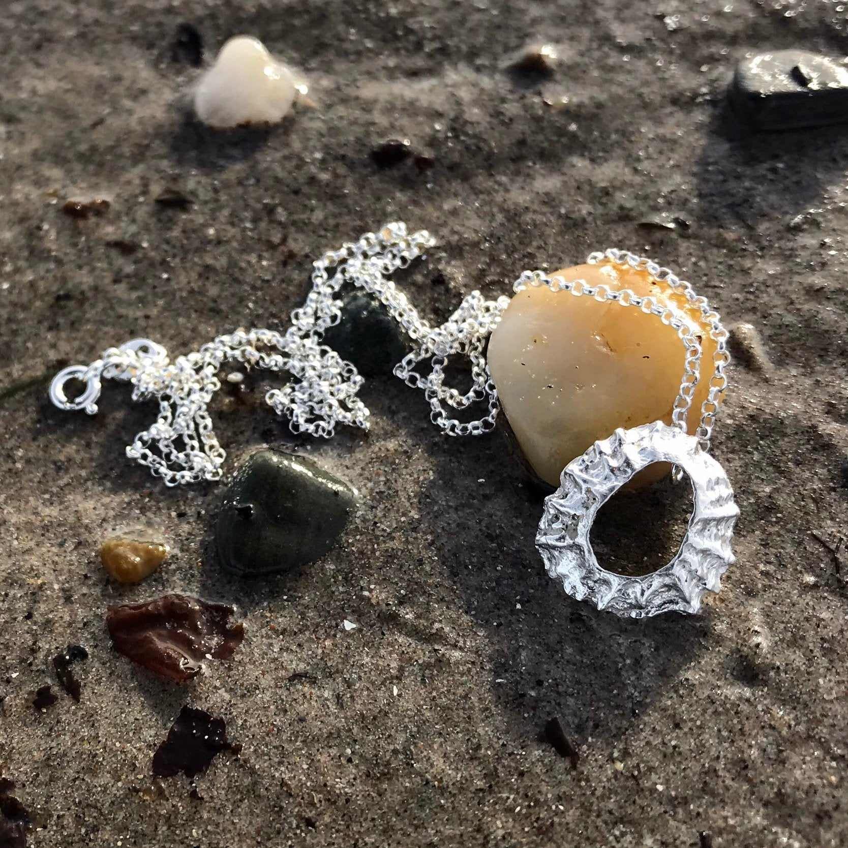 Sterling Silver Limpet Shell Necklace - Flitters