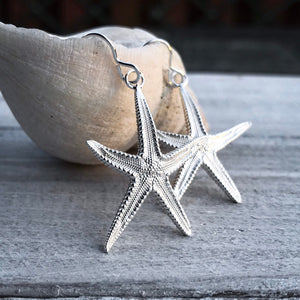 Sterling Silver Brittle Starfish Earrings